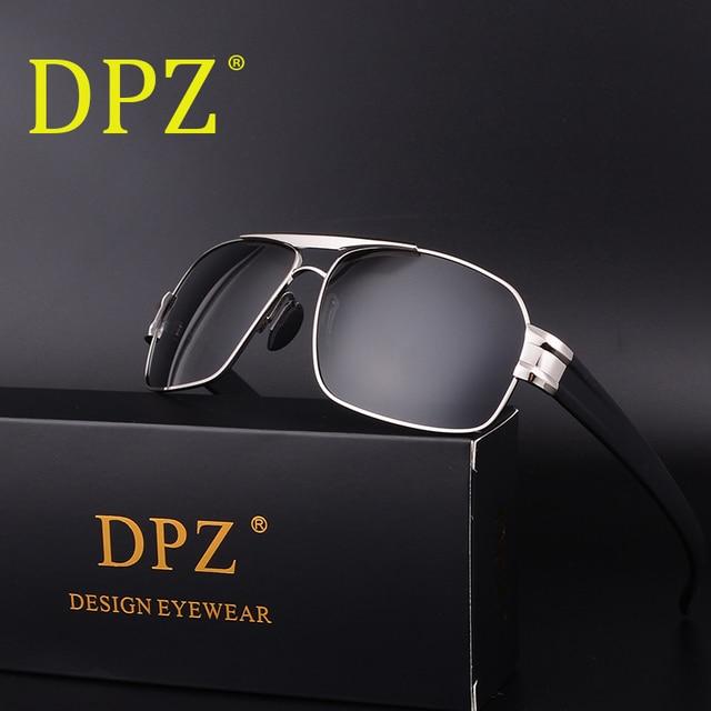 297c5715034 DPZ Luxury Brand Designer Vintage Polaroid Lens for Men Male Sunglasses  Polarized Eyewear Accessories UV400 Inner Coating-in Sunglasses from Men s  ...