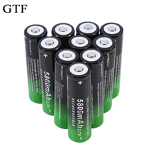 GTF 4Pcs Rechargeable 18650 Batteries 5800mAh 3.7V Rechargeable Batteries Flashlight battery