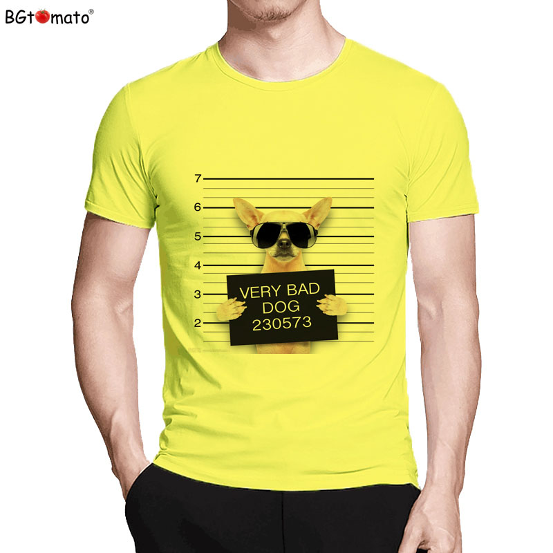 BGtomato T shirt Very bad dog funny t shirts Hot sale super lovely cute tee shirt homme Brand good new fashion tshirt men