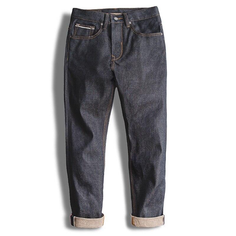 MADEN Vintage ตรงปกติพอดี Unwashed ดิบ Selvedge Denim กางเกงยีนส์-ใน ยีนส์ จาก เสื้อผ้าผู้ชาย บน   2