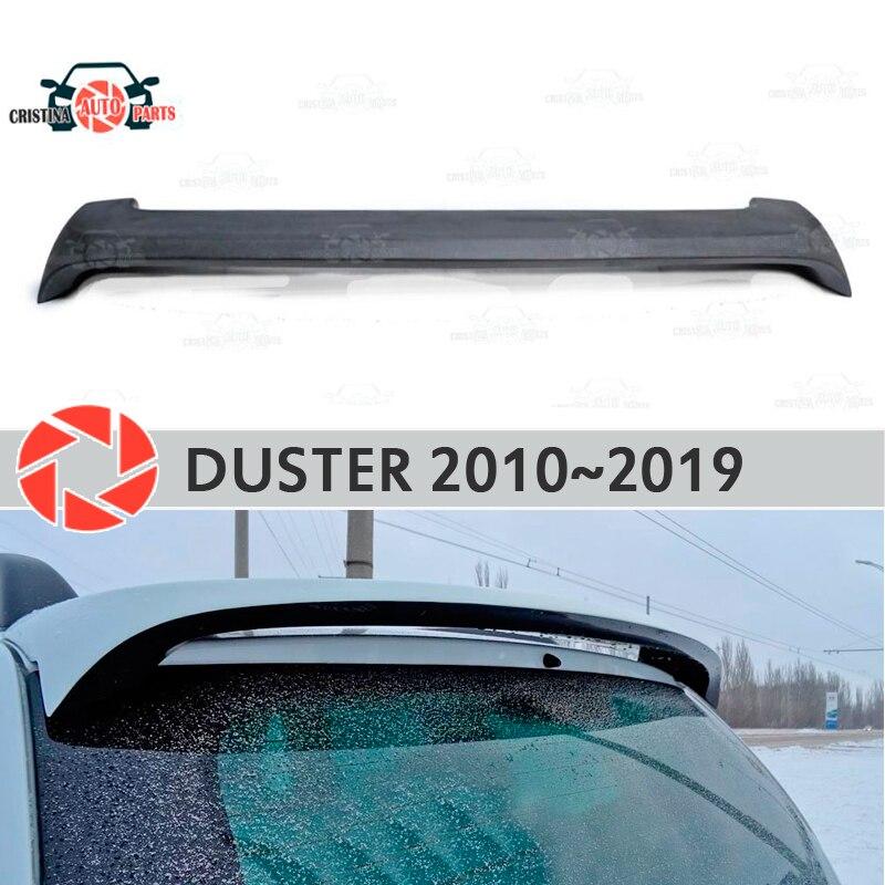 Alerón en la ventana trasera para protector antipolvo para Renault 2010-2019, alerón de la placa del dosel, alerón de plástico ABS, accesorios del alféizar del coche