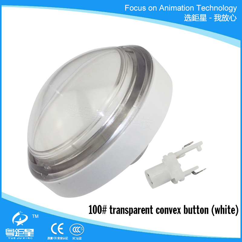 Video Games Replacement Parts & Accessories Beautiful 100mm Momentary Hand Press Transparent Convex Button Machine Led Big Push Button Switch For Arcade Game Console With Micro Switc