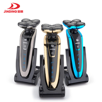 Jinding Original 5 Blade Rotate Electric Shaver Face Beard Electric Razor For Men Wet Dry Rechargeable