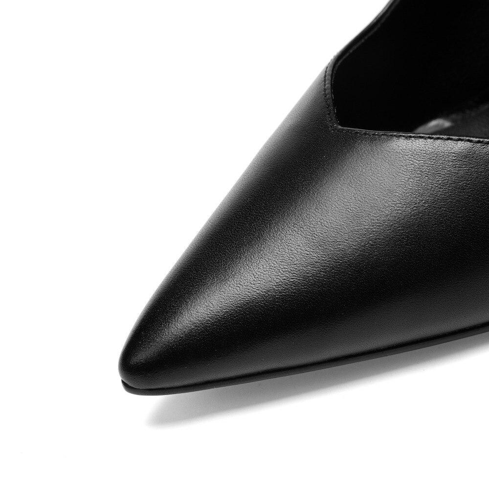blanc En Chaussures Pompes Femmes Cuir Sangle Hauts 2019 Cheville Noir 10 Talons Cm w675qUC5