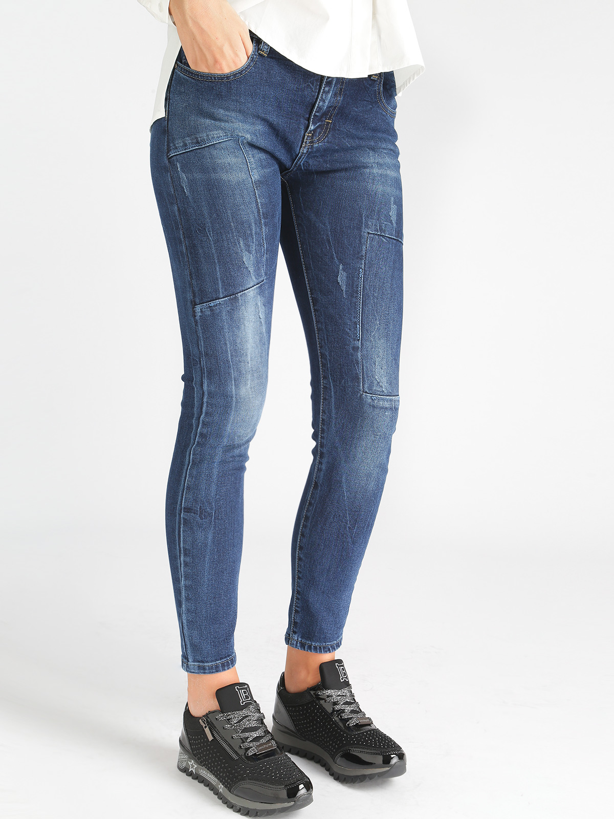 Jeans Effect Washed-denim Blue