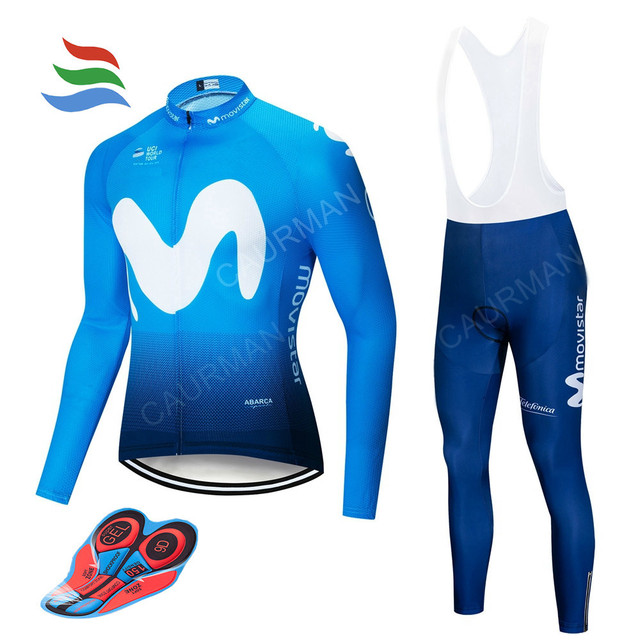 2018 Movistar New Pro Team Cycling Jersey Set Thin Long Sleeve Thin Good  Quality Cycling Uniform Bike Bicycle Clothing GEL 87a8fabb7