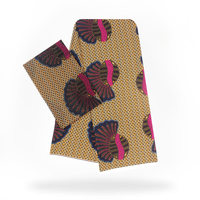 African Style Modell Chiffon Silk Material Beautiful Wax Pattern Fabric Printed 4+2 Yards/pcs 5 Colors For Making Cloth 30