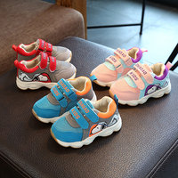 2018 Fashion Breathable Baby Toddlers Cute Cartoon Patch Baby First Walkers High Quality Baby Sneakers Lovely