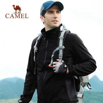 CAMEL Men Outdoor Softshell Hiking Jacket Waterproof Windproof Hiking Camping Fishing Hunting Coat