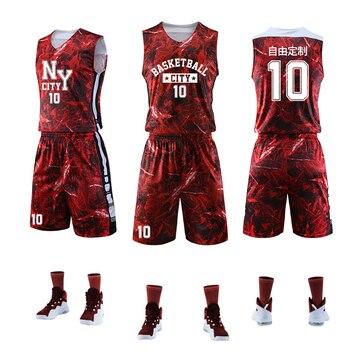 a0fbf267 Camisetas coloridas de baloncesto para hombres y mujeres, conjuntos de  uniformes, Kit deportivo, ropa, camisas, pantalones cortos, bolsillos  laterales, ...