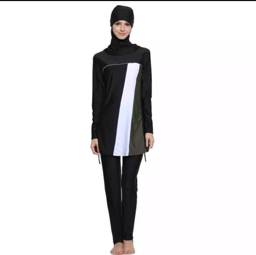 e97c2ba6f1a 3 Colors Muslim Swimwear Womens Modest swimsuit Islamic womens Beach ...