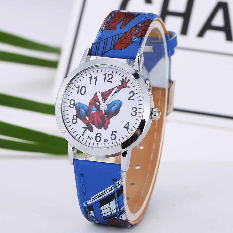 Мультяшные милые брендовые кожаные кварцевые часы для детей, для мальчиков и девочек, повседневный модный браслет, наручные часы, часы, Relogio Garoto