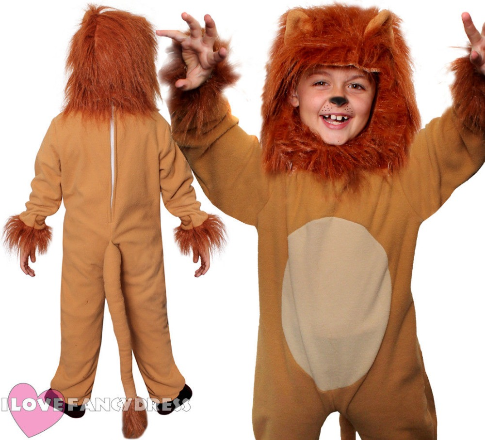 CHILD LION COSTUME KIDS ANIMAL JUMPSUITS ALICE HALLOWEEN FANCY DRESS BOYS GIRLS SCHOOL BOOK WEEK CHARACTER COSPLAY Wizard of Oz