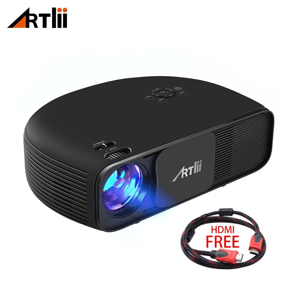 Artlii HD Projetor de Cinema Em Casa, 3500Lum Apoio 1080 P Conectar Android IOS Smartphone Projetor de Vídeo Portátil para Jogos e Festa