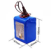 Liitokala 12 v 10ah proteção grande capacidade 18650 bateria recarregável de lítio 12.6v 10000 mah led baterias de luz