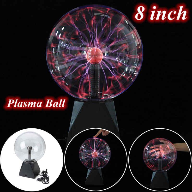 8 pouce Magique Boule de Plasma Sphère Lightn ing Globe De Cristal Tactile Nébuleuse Lumière Meubles de Maison Éclairage Décor Jouets Cadeau