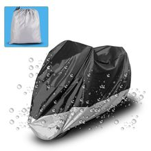 Black with Silver/Red Motorcycle Cover Waterproof Outdoor Dust Protector Rain Dustproof Cover for Motorcycle Scoote(China)