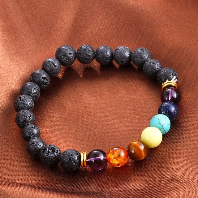 Natural  Lava Stone Strand Bracelet