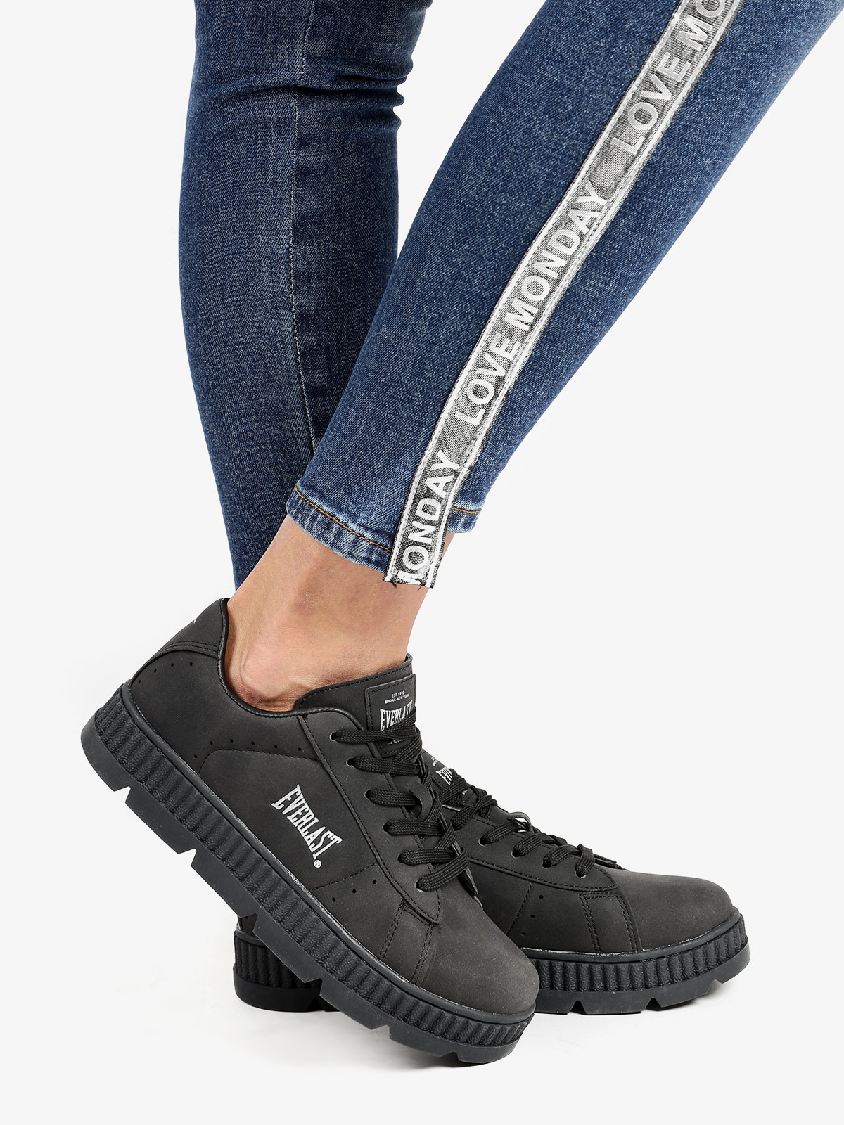 Sneakers Flat With Platform-black