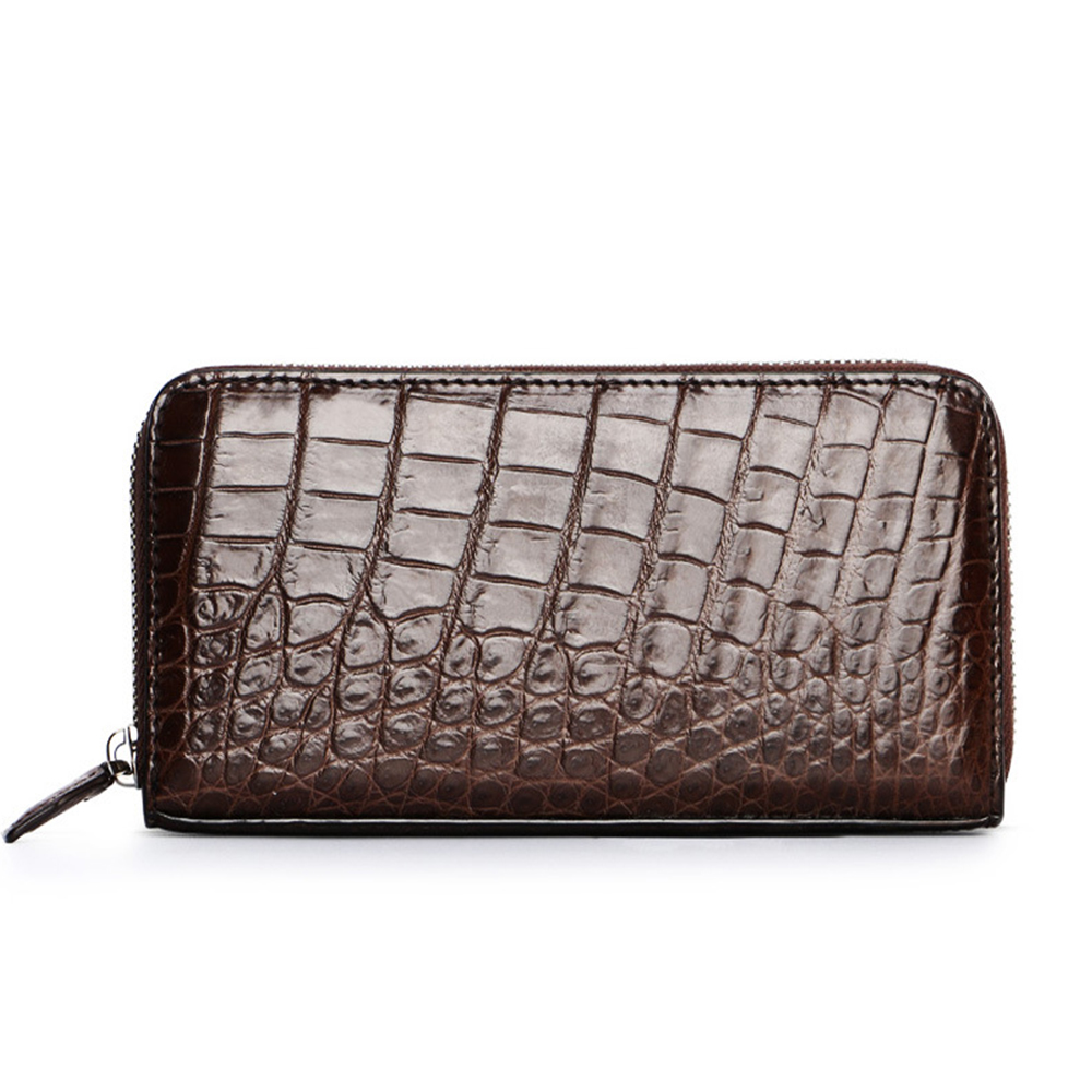 CUWHF High quality Men Wallet 100% Crocodile Leather Long Clutch Wallets For Men Leather Wallet Slim Purse Fashion Male Wallets men wallets 100