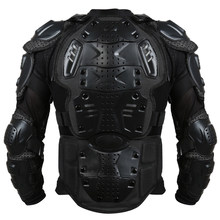 Liplasting Full Motorcycle Body Armor Shirt Jacket Motocross Back Shoulder Protector Gear S-XXXL Black Veste de moto KDCW1(China)