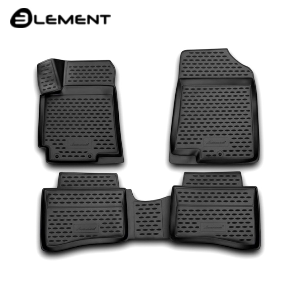 For Hyundai Solaris 2011-2016 3D floor mats into saloon 4 pcs/set Element NLC3D2059210 fast shipping 2pcs set led marker angel eyes kit for bmw e90 saloon e91 touring no canbus error