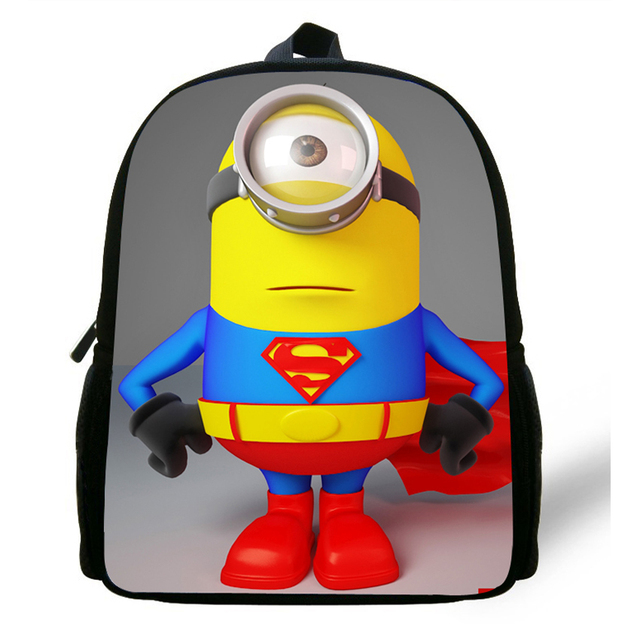e337feddafc 12inch Small infants child cartoon School Bag Toddler Despicable Me Minions  School Backpack for Boys Girl kids kindergarten Cute