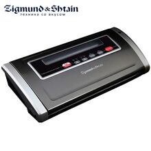 Zigmund & Shtain VS-505 Вакуумный упаковщик, 170 Вт, 2 режима автовакуумирования для твердых/мягких продуктов, Вакуумирование в контейнерах, Запаивание пакета без вакуумирования, Смотровое окно