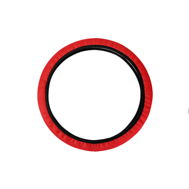 Red Universal Truck Car Breathable Anti-Slip Steering Wheel Cover Guard Protector