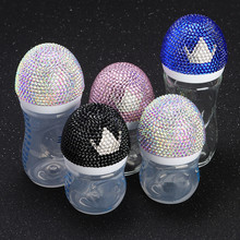 MIYOCAR Bling beautiful handmade safe Feeding Bottle baby bottle and bling colorful pacifier for shower gift