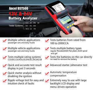 Image 2 - Ancel BST500 12V 24V Car Battery Tester With Thermal Printer Car Heavy Duty Truck Battery Analyzer Battery Test Diagnostic Tool