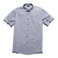 100 Cotton Mens Short Sleeve Shirts Big Size Casual Fit Solid Men Shirts Brand Clothing Turn