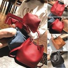 Adisputent Women 4 Set Handbag Shoulder Bags bagLitchi Grain Tassel Package Bags Crossbody Shoulder Bag