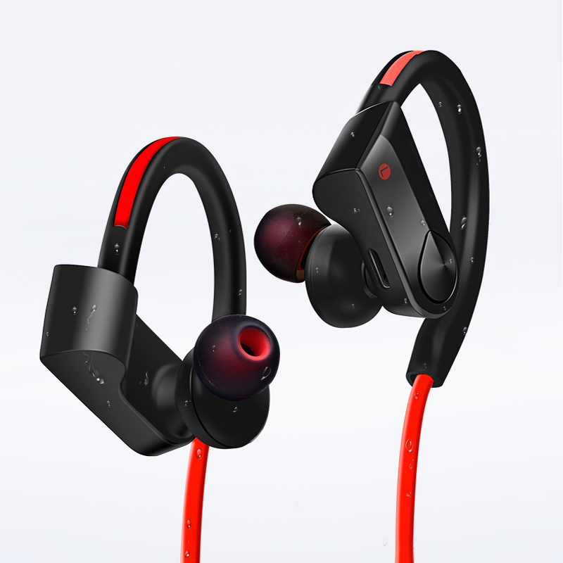 Bluetooth Earphone Headphones Waterproof Wireless Headphone Bluetooth Headset Earpiece with MIC for Phone iPhone Xiaomi remax t9 mini wireless bluetooth 4 1 earphone handsfree headset for iphone 7 samsung mobile phone driving car answer calls