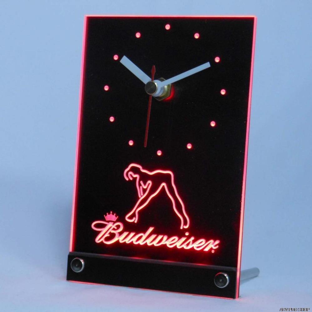 Stripper pole alarm clock novelty