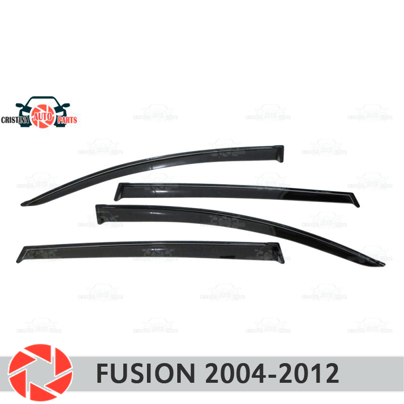 Window deflector for Ford Fusion 2004-2012 rain deflector dirt protection car styling decoration accessories molding window deflector for mitsubisi pajero 2 1990 2004 rain deflector dirt protection car styling decoration accessories molding
