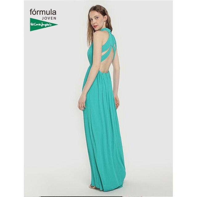 1cbf27f9d € 44.99 50% de DESCUENTO Aliexpress.com: Comprar Vestido largo con cuello  Halter de estilo elegante de buena calidad de moda de verano nuevo diseño  ...