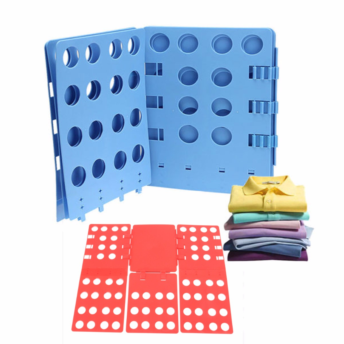 Adult Size Clothes Folding Board Save Time Multifuncitonal Magic Fast Speed T-Shirt Clothes Easy Fold Organize 69x56cm
