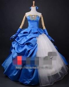 Image 2 - FATE/ZERO TYPE MOON Saber Neroคอสเพลย์เครื่องแต่งกาย10th Anniversaryสีฟ้าสีแดงผู้หญิงชุดสาวปาร์ตี้ฮาโลวีนชุดอะนิเมะเสื้อผ้า