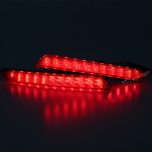 Red Rear Bumper Reflector Lamp Led Parking Lights Lamp For Fit Jazz 2010-2014