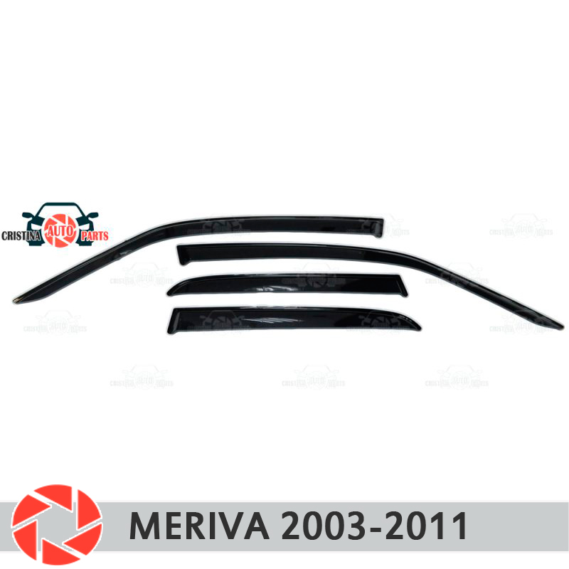 Window deflector for Opel Meriva 2003-2011 rain deflector dirt protection car styling decoration accessories molding high quality car styling case for hyundai sonata 2011 12 headlights led headlight drl lens double beam hid xenon car accessories