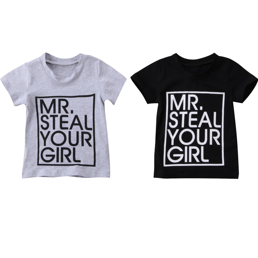 93f874d34 Short Sleeve Letter Print T Shirt For Toddler Boy Baby Boy Graphic Tees  Shirt