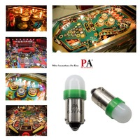 PA LED 20PCS x #1893 #44 #47 #1847 BA9S 2SMD 2835 LED Pinball Machine Dashboard Light Bulb 8 Color 6.3V Frosted