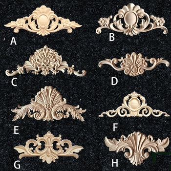 2Pcs/Lot RUBBER WOOD FURNITURE ARCHITECTURAL APPLIQUES APPLIQUE DECOR onlay APPLIQUES Acanthus фото