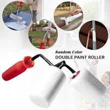 Double Paint Roller Brush For Pipe Fence Cylindrical Corner