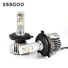 2Pcs H4 H7 Car Headlights Bulbs D1 D2 5202 9012 P13W PSX24W PSX26W 80W 14400LM Pair 12V Led Car Lamps 6500K Light Auto Headlamp(China)