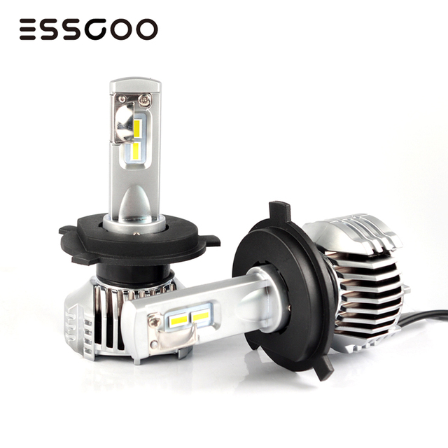 2Pcs H4 H7 Car Headlights Bulbs D1 D2 5202 9012 P13W PSX24W PSX26W 80W 14400LM Pair 12V Led Car Lamps 6500K Light Auto Headlamp