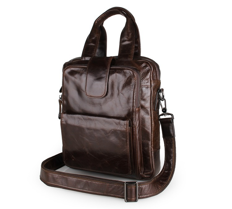 лучшая цена Fashion Crossbody bag Genuine Leather Men shoulder bag Leather Men messenger bag Male Leisure Laotop Business Handbag tote Brown