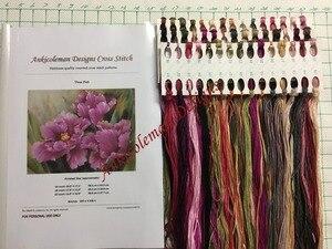 Image 3 - Lady Zitten op de Rock Geteld Borduurpakketten DIY Handgemaakte Handwerken voor Borduurwerk 14 ct Kruissteek sets DMC Kleur