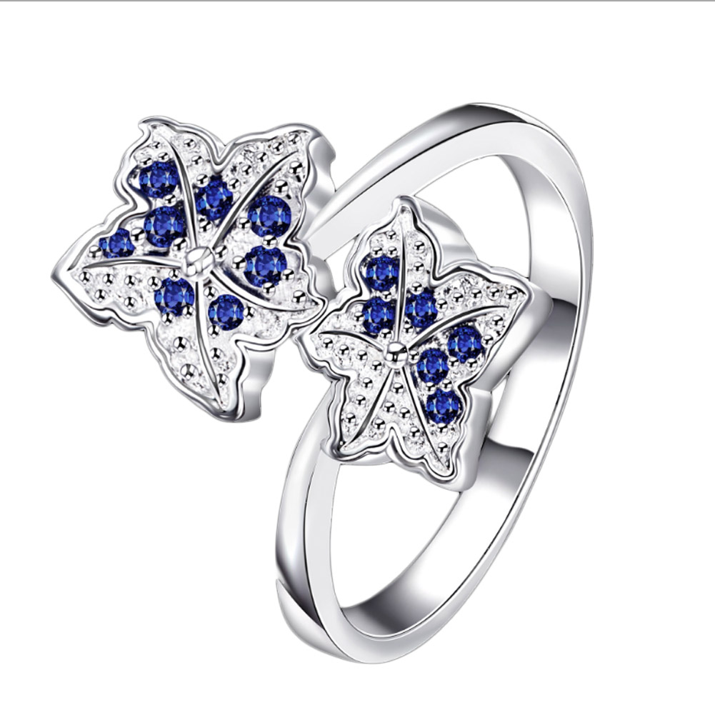 1 Piece Color Silver Maple Leaf Flower Leaves Ring For Women Party Wedding Bridal Jewelry: Maple Leaf Wedding Band At Websimilar.org